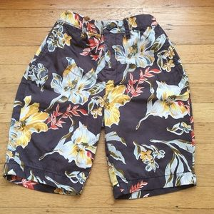 Crewcuts boys flower shorts size 14